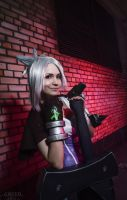 Riven. The Exile (LEAGUE OF LEGENDS) [6] by Akaomy