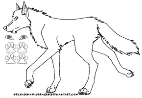 Male Wolf Lineart by Guardian-of-Elements