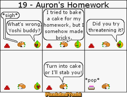 19 - Auron's Homework by PixelatedYoshi