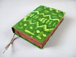 green handmade journal by Patiak