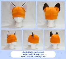 Fox Hat Kitsune Hat Long Tipped ears by cutekick