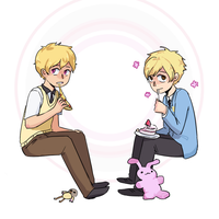 Blonde Anime Boys by mang0chan