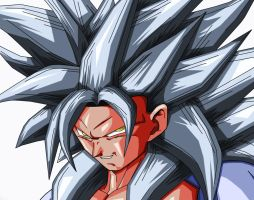 Son Goku AF SSJ5 CLOSE UP by Gothax