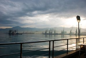 Batumi port II by Levan-Dol