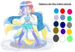 Nightcore the Nine-Tailed Android Reference by TwillaTheHedgehog