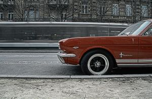Mustang in town by JulianMathis