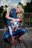 Captain Spider-Man And Bugle Girl Gwen Stacy by joker99xdraven