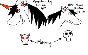 Horse preview: Prince Ray and Minion by JennytheYugioh5dsfan