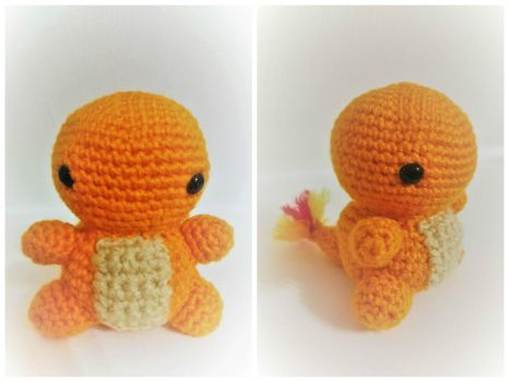 Little Crochet Charmander! by jenny3793
