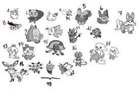 Fakemon Auction 5 (CLOSED) by Wabatte-Meru