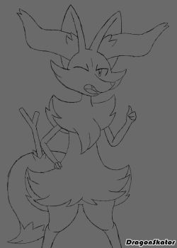 Braixen Approves WIP by DragonSkator