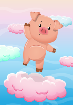 Piggy - Character design for game by arlene00