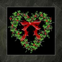 Ivy and Holly Heart Wreath by rockgem
