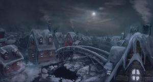 Winter Town by Nemca