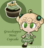 Grasshopper Mint Cupcake by neooki23