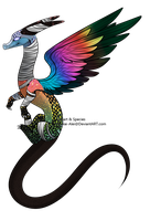 (CLOSED) Rainbow Splattered Kaelrin by AcidicAdopts
