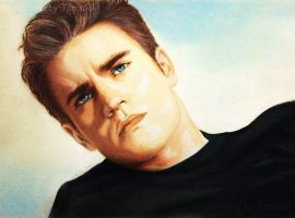 Paul Wesley - pastel by TomsGG