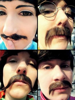 Sgt. Pepper's Beatles Cosplay - Sexy Moustache by Murdoc-lein