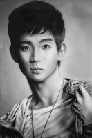 Kim Soo Hyun Drawing by Glitter-Box