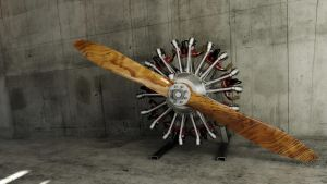 9 cylinder radial engine by melkorius