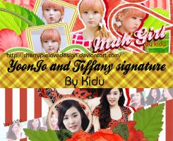 [cover zing] YOONJO AND TIFFANY SIGNATURE by CherryPielovedesign