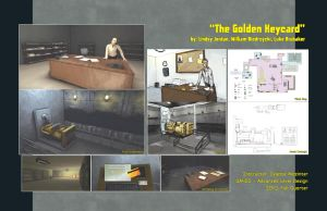 The Golden Keycard UDK level by The-Great-Shiniku