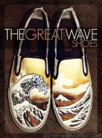 The Great Wave Shoes by daniel-w