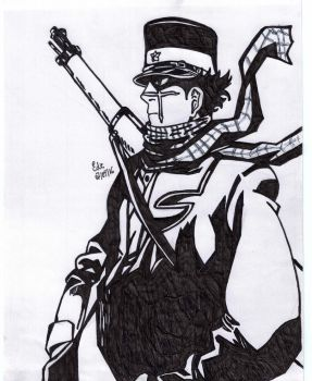 Golden Kamuy - Sugimoto the Immortal by lustosaart
