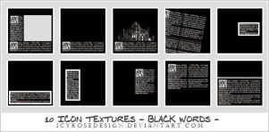 IconTextures100x100_BlackWords by icyrosedesign