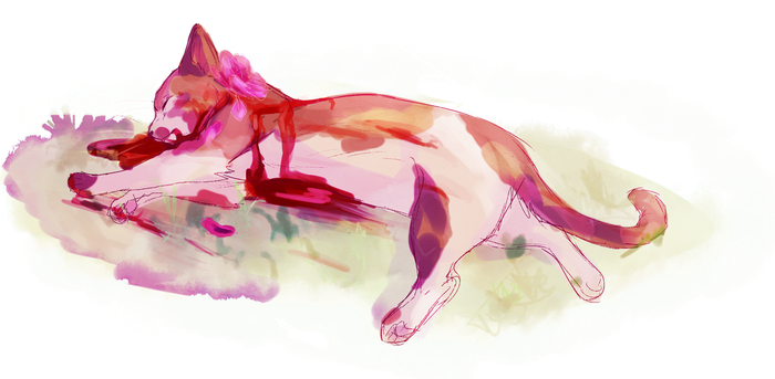 wc goretober day 2 - spottedleaf by meow286