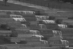 BW waterfall by wolfstones13