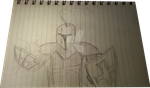 Knight of Light, second sketch, WIP by Jonilo5