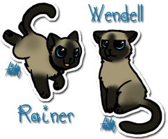 Rainer and Wendell by pSarahdactyls