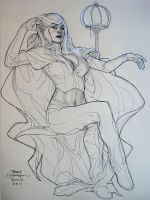Emma Frost 2 ECCC 2011 by TerryDodson