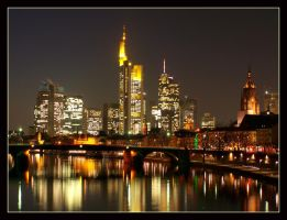 The Skyline of Frankfurt III by kine80