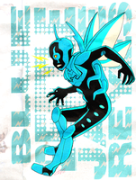 blue beetle collaboration by purapea