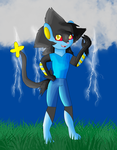 Leon the Luxray by KendraTheShinyEevee
