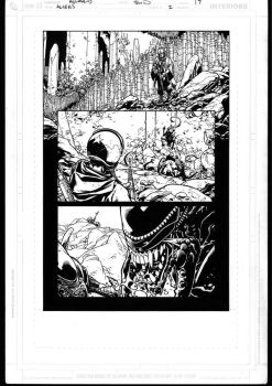 Aliens 2 page 17 inks by MarkIrwin