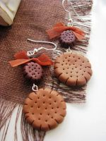 Biscuit earrings by CountessAudronasha