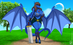 leon1999 OC Cate Dragoness gift ar_near completion by wsache007