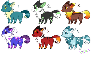 Canines adopts CLOSED by PurplechuAdopts