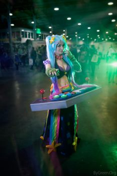Arcade Sona, League of legends by bygreenorg