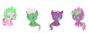 CLOSED: Spikepie adoptables by Dellisa121