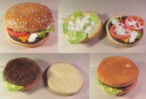 Fake Cheeseburger by alanbecker