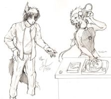 Dillan and Theodore sketch by KibugamiKenzo
