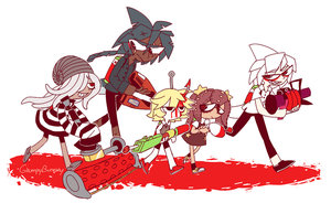 bad guys red team by GrumpyBuneary