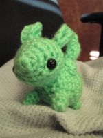 Flying Mint Bunny by LucarioFan1996