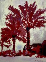 palm trees modern art print by derekmccrea