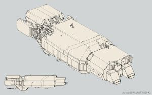 Unmanned Large Assault Ship 2. by Tinnenmannetje