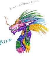 Riff the rainbowrific dragon by Hazelgirl